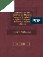 Dctionnaire Des Termes de Marine