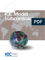 ICC Model Subcontract ICC Model Back-To-back (