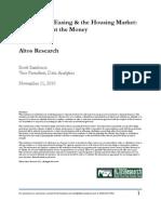 Quantitative Easing and the Housing Market
