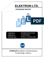 36494243 Pak Elektron Ltd Pel Internship Report to Hr Dept