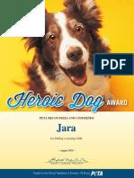 Heroic Dog Award Jara