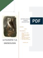 Trabajo Final de Filosofía y Gnoseología
