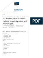 60 TOP Real Time SAP ABAP Multiple Choice Questions With Answers PDF - REAL TIME Interview Questions
