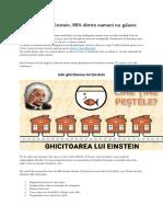 Ghicitoarea Lui Einstein