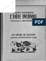 Maeterlinck L'Hôte inconnu