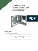 Line Extender Le 200 &300 Configuration