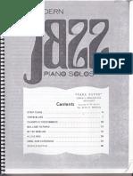Modern Jazz Piano Solos I Philipp Libro I