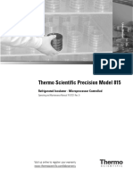 Precision Low Temperature Incubator User Manual 7013721r0