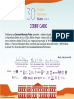 Certificado da comunicação