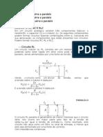 Circuito RL, RC e RLC série e paralelo