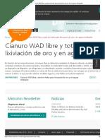 Cianuro WAD Libre y Total en Lodos Para Lixiviación de Oro y en Aguas Residuales