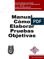 Manual cómo elaborar pruebas objetivas