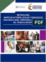 Metodologia Mapa de Actores Clave y Espacios de Discusión