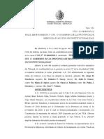 Fallo de La Suprema Corte de Justicia de Mendoza - Reelección Intendentes