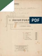 Villa-Lobos, Heitor e Lopes, B. - Miniaturas No.1 Cromo (No.2)