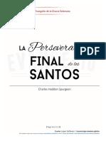 LA PERSEVERANCIA DE LOS SANTOS