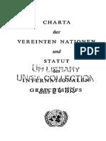 Carta da Onu em Alemão