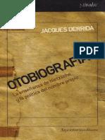 Otobiografias - Jacques Derrida.