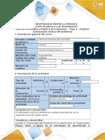 Guía de Actividades y Rúbrica de Evaluación – Fase 4 – Realizar Sustentación Teórica Del Problema
