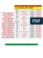 Top Government Jobs 2019