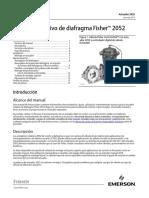 Instruction Manual Actuador Rotativo de Diafragma Fisher 2052 Fisher 2052 Diaphragm Rotary Actuator Spanish Universal Es 123272