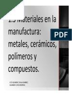Materiales de La Manufactura