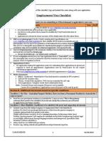 Employment Visa Checklist