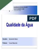 QUALIDADE DE ÁGUA E DIMENSIONAMENTO - UNESP