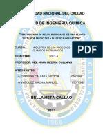 DESCRIPCION DEL PROCESO Tratamiento de Aguas Residuales en La Industria Papelera