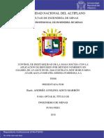 Control de Inestabilidad de La Masa Rocosa Con La Aplicacion de Refuerzo Por Metodo Numerico - La Poderosa