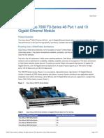 Cisco Nexus 7000 F3-Series 48-Port 1 and 10 Gigabit Ethernet Module_DS