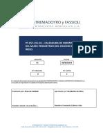 PT-EST-151-02 - Procedimiento de Calzadura de Cimentación Del Muro Perimetrico Delcolegio Karl Weiss - Rev. 01