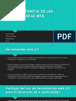 La Importancia de Las Herramientas Web