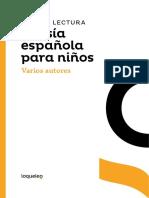 Guia de Lectura Poesia Espanola Para Ninos