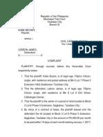 Complaint sample unlawful detainer
