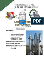 Laboratorio de destilacion