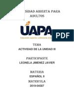 Tarea III de Español 2
