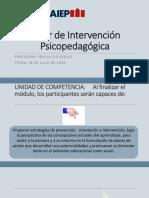 taller intervencion psicopedagogica
