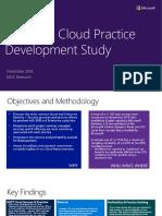 Microsoft Cloud Practice Development Study November 2016 Final Report