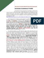 Para Que o 5º PODER Constitucional Brasileiro em Inglês e Português