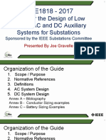IEEE Std 1818-2017 Guide for the Design of Low Voltage AC and DC Auxiliary Systems for Substations