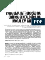 Para uma introdução da crítica genealógica da motal em Nietzsche