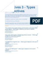 Adjectives 3