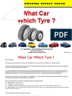 What Car Which Tyre