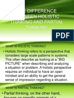 THE DIFFERENCE BETWEEN HOLISTIC THINKING AND PARTIAL THINKING.pptx