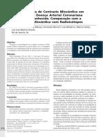 Ecocardiografia de Contraste Miocárdico em Pacientes com Doença Arterial Coronariana Suspeita ou Conhecida. Comparação com a Cintilografia Miocárdica com Radioisótopo