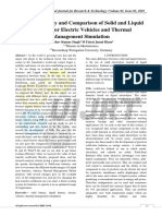 Analytical Study and Comparison of Solid and Liquid Batteries for Electric Vehicles and Thermal Management Simulation