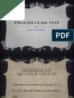 English Class Test Unit 1