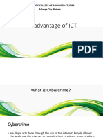 13. Disadvantage of ICT