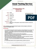 Civil Aviation Authority CAA Jobs NTS Test Roll No Slip